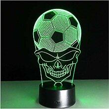 7 Farben 3D Illusionslampe Dortmund Soccer Bunte