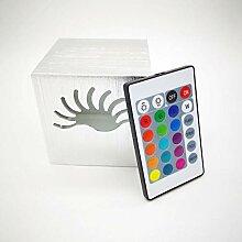 (7 Farben) kreative quadratische Wandlampe,