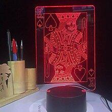 7 Farben Poker King 3DLED Lichter magische Laterne