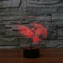 7 Farben Runde Arylische Form 3D Illusion Feuer