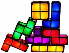 7 Farben Tetris Nachtlicht, Wohnkultur Tragbare