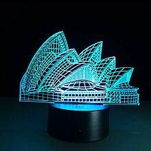 7 Farbwechsel LED 3D Nachtlicht Touch Rempte 3D