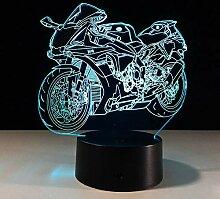 7 Farbwechsel Motorrad Modell 3d Nachtlicht