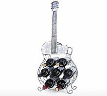 7 Flaschen Gitarrenweinregal Große