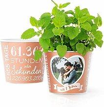 7. Hochzeitstag Geschenk – Blumentopf (ø16cm) |