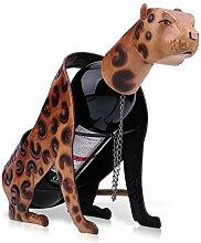 7°MR wein regal Leopard Weinregal Metall Figur