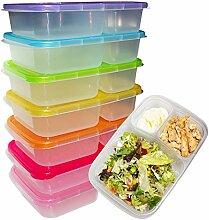 7 Set Bento Lunchboxen - Brotdose mit 3 Fächern