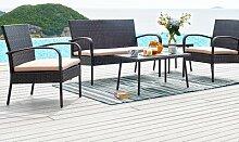 7-Sitzer Gartengarnitur Pell mit Polster