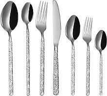 7 Stück Besteck Set Retro Edelstahl Messer und