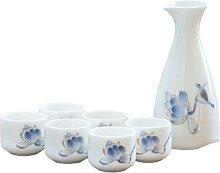 7 Stücke Keramik Japanische Sake Set Sake Tassen