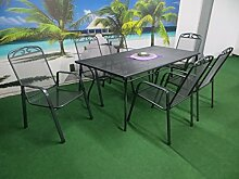 7-teilige Luxus Streckmetall Gartenmöbelgruppe