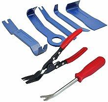 7-teiliges Auto Tür Polster Panel und Trim Clip Zangen Plus Auto Body Zierleiste entfernen Werkzeuge