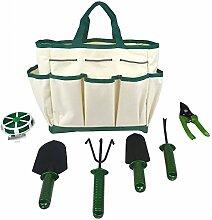 7-teiliges Garten Garten-Pflanze Hand Werkzeug Set mit Faltbare Aufbewahrungstasche