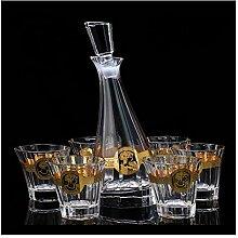 7-teiliges Set Bleifreier Kristallglasanzug