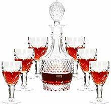7-teiliges Wein-Set Kreatives Licht Luxus im