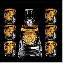 7-teiliges Whisky-Geschenk-Set Kristall Weinglas