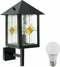7 Watt LED Außen Wand Leuchte Tiffany Lampe