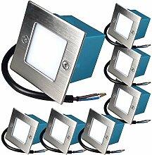 7 x 1.5W LED Wandeinbauleuchte 230V Einbaustrahler