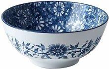 7 Zoll blau und weiß Porzellan-Keramik Haushalt