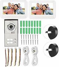 7-Zoll-TFT-LCD-Kabel-Intercom-Türklingel-Kit