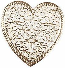 70 Glanz Herzen mit Ornamenten Blech veredelt , gold ca. D:4,5cm