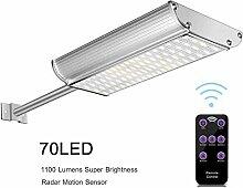 70 LED Solarleuchten Bellanny Wandlampe mit 5 Modi