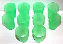 70 Plastik Trinkbecher 0,4 l - grün - Mehrwegtrinkbecher / Partybecher / Becher