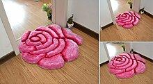 70 x 70cm großer, weicher Teppich in Form einer
