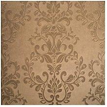 701309 - Bronze Damast-Tapeten-