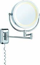 70349 WallCeiling Bela Kosmetikspiegel max.40W E14 Chrom/Spiegel 230V Metall/Glas Spiegelleuchte Spiegellampe Wandleuchte 703.49