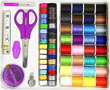 71 Stück Multifunktionale Travel Kit Nähzubehör Festlegen Nähen Essentials Maßband Nadel Faden Naht Ripper Zufällige Farbe