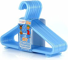 72 Kinder Kunststoff-Kleiderbügel, blau, 29 cm Hangerworld