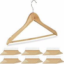 72 x Kleiderbügel, Hosenbügel aus Holz,