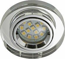 7201-010 LED Einbaustrahler 1x3W GU10 Acryl klar