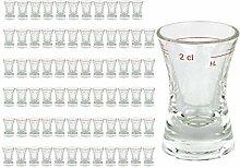 72er Set Schnapsglas WACHTMEISTER mit Eichstrich,