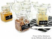 72x Mini Glas Clip Top Aufbewahrung Einkochen
