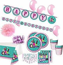 74 Teile Beauty Spa Topmodel Party Deko Set für 8