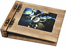 75 Blatt beidseitig klappbares Holz Hochzeits