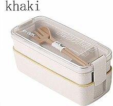 750 ml gesundes Material 2-lagige Bento-Box