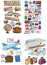 76 Reise-Scrapbook-Aufkleber | Reiseaufkleber für