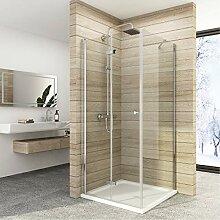 76x70 cm Duschkabine Duschabtrennung Falttür