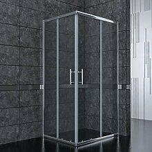 76x70cm Eckeinstieg Duschkabine Sicherheitsglas
