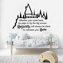 77X57Cm, 3D Aufkleber, Magic Castle Zitat Bett