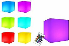 7even LED Leuchtwürfel 20cm Outdoor LED-Cube mit