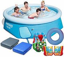 7in1 Kinder Set Pool Gartenpool 244 x 66 cm Bestway 57265 Schwimmring Schwimmweste Schwimmflügel