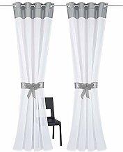7Morning 2 Stücke Transparenter Ösen-Vorhang