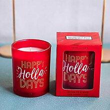 7oz Gruß Briefe Glas Tasse Kerze Aromatherapie
