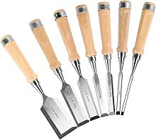 7pcs 6-51mm Holzmeißel Set Zimmermann Werkzeuge