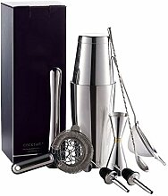 7Pcs Set 750 + 550ml 304Stainless Stahl Cocktail