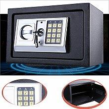 8.5L Safe Tresor Elektronisch Minitresor mit digitalem Zahlenschloss mit 4x Batterien